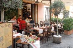 Italiaans restaurant Stock Foto