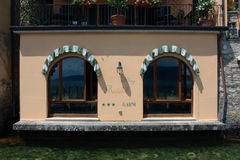 Italiaans restaurant stock foto's