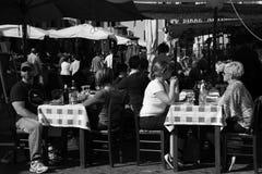 Italiaans restaurant stock afbeeldingen