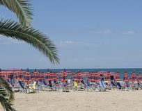 Italiaans strand Royalty-vrije Stock Afbeeldingen