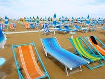 Italiaans strand Royalty-vrije Stock Afbeelding