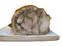 Italiaans varkensvleesbraadstuk - Porchetta Stock Afbeeldingen