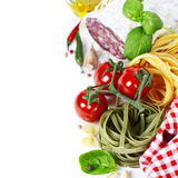 Italiaans voedsel. Stock Afbeeldingen