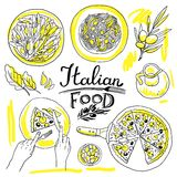 Italiaans voedsel stock illustratie