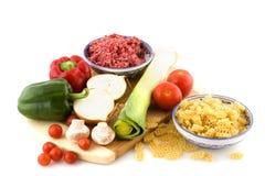 Italiaans voedsel Royalty-vrije Stock Afbeeldingen