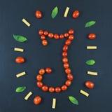 Italiaans voedsel die patroon met brief eten Royalty-vrije Stock Afbeeldingen