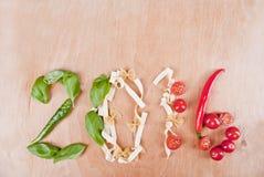 2016 Italiaans Voedselconcept Royalty-vrije Stock Afbeeldingen