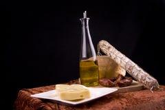 Italiaans voedselstilleven Stock Foto