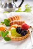 Italiaans vruchten gebakje stock foto
