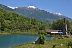 Italiaanse alp-Mening over Vinschgau Royalty-vrije Stock Foto's