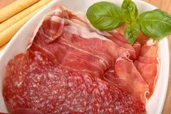 Italiaanse antipasti Stock Foto