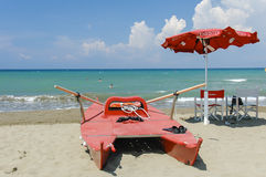 Italiaanse badmeester Stock Foto