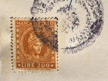 Italiaanse belastingszegel in Milaan Royalty-vrije Stock Foto's
