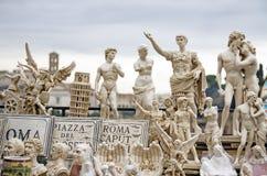 Italiaanse beroemde standbeelden en monumenten Stock Afbeelding