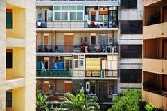 Italiaanse bezige balkons royalty-vrije stock foto's