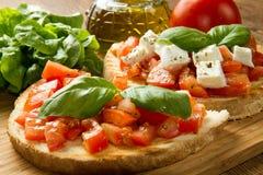 Italiaanse bruschetta Stock Foto