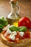 Italiaanse bruschetta Stock Fotografie