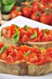 Italiaanse bruschetta Stock Foto's