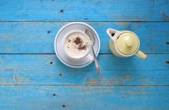 Italiaanse cappuccino Stock Afbeeldingen