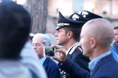 Italiaanse carabinieri, de nationale gendarmerie van Italië stock foto's