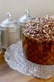 Italiaanse chocoladepannetone royalty-vrije stock afbeeldingen