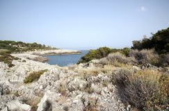 Italiaanse Cilento-kustlijn royalty-vrije stock afbeelding