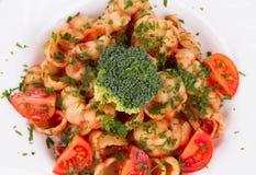 Italiaanse deegwaren met broccoli Stock Foto's