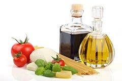 Italiaanse deegwareningrediënten 1 Stock Foto