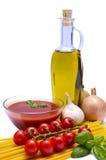 Italiaanse deegwareningrediënten royalty-vrije stock afbeeldingen