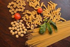 Italiaanse deegwarenmengeling Stock Afbeelding
