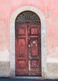 Italiaanse deur Royalty-vrije Stock Afbeeldingen
