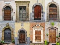 Italiaanse deuren Royalty-vrije Stock Foto's