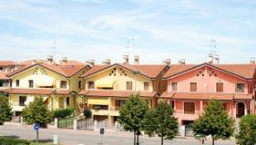 Italiaanse enige huizen Stock Foto's
