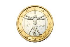 Italiaanse euro muntstuk Stock Foto's