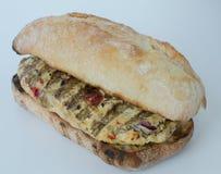 Italiaanse geïsoleerde kippenhamburger Royalty-vrije Stock Foto