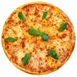Italiaanse geïsoleerde pizza Royalty-vrije Stock Afbeeldingen