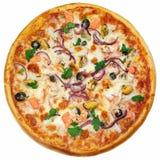 Italiaanse geïsoleerde pizza Royalty-vrije Stock Foto's
