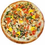 Italiaanse geïsoleerde pizza Stock Afbeeldingen
