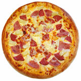 Italiaanse geïsoleerde pizza Stock Foto's