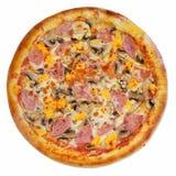 Italiaanse geïsoleerde pizza Stock Foto