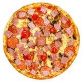 Italiaanse geïsoleerde pizza Royalty-vrije Stock Fotografie