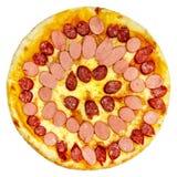 Italiaanse geïsoleerde pizza Stock Afbeelding