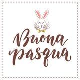 Italiaanse gelukkige Pasen-druk Stock Afbeeldingen