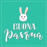 Italiaanse gelukkige Pasen-druk Royalty-vrije Stock Afbeelding