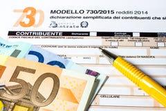 Italiaanse geroepen belastingaangifte 730 Royalty-vrije Stock Fotografie