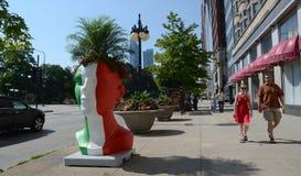 Italiaanse Groene de Ideeënplanter van de Dorpsinstallatie, Chicago van de binnenstad Royalty-vrije Stock Afbeelding