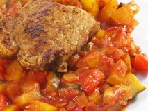 Italiaanse groenten met het lapje vlees van Turkije Royalty-vrije Stock Afbeeldingen
