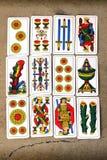 Italiaanse kaarten Royalty-vrije Stock Afbeeldingen
