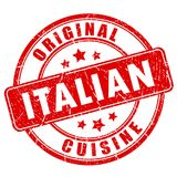 Italiaanse keuken vectorzegel Stock Foto