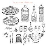 Italiaanse keukenreeks royalty-vrije stock afbeelding